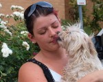 Lisa Pauchenet has been reunited with her dog Bella